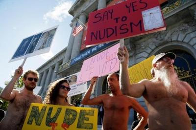 Nude Protesters