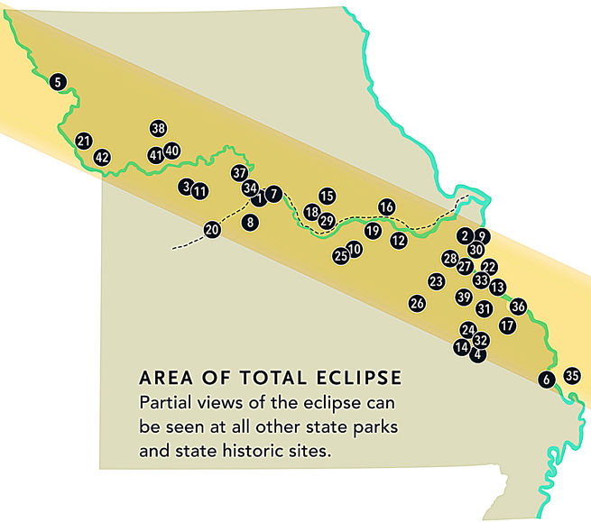 Areas That Will See Total Eclipse