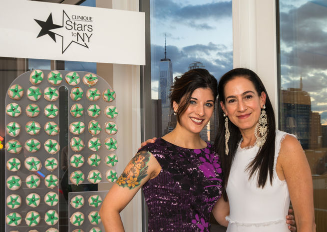 Huff Attends Clinique Stars to New York