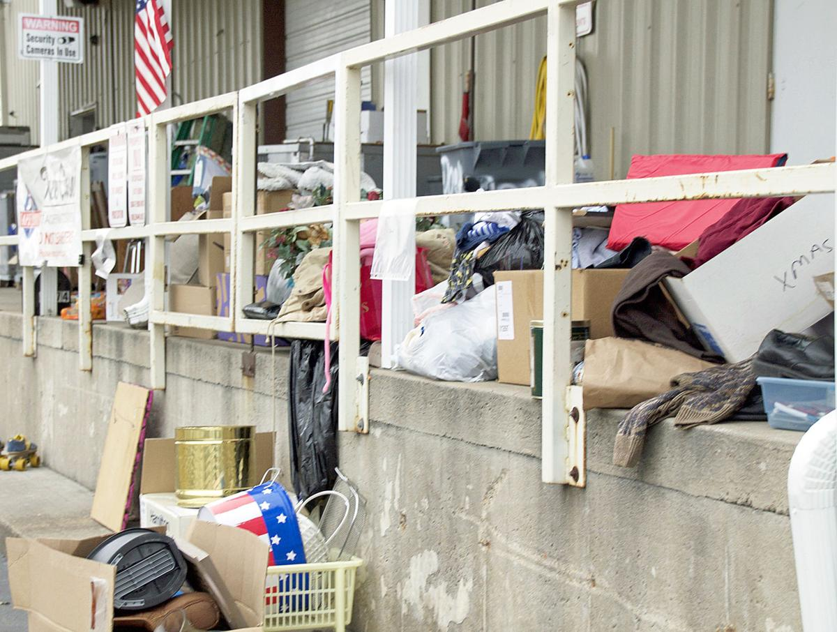 Donated Items Pile Up
