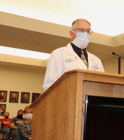 Dr. Riechers speaks