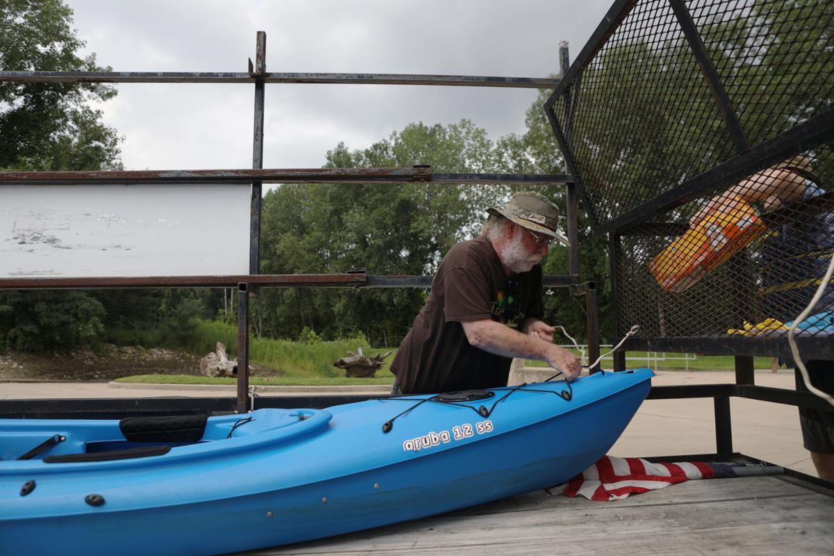 Preparing the Kayak