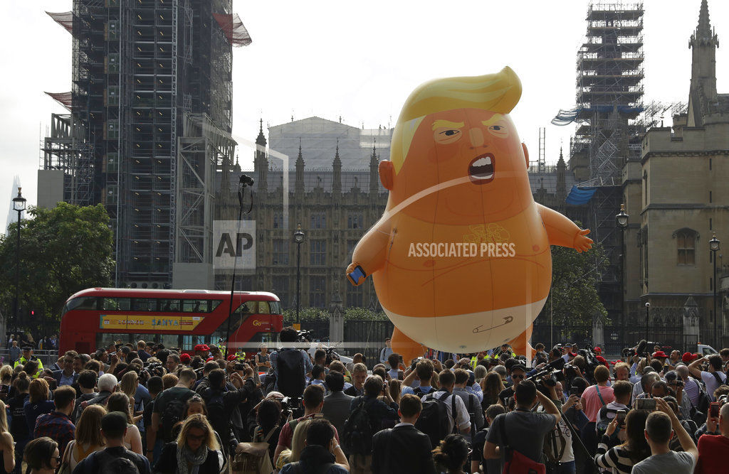 APTOPIX Britain Trump Visit