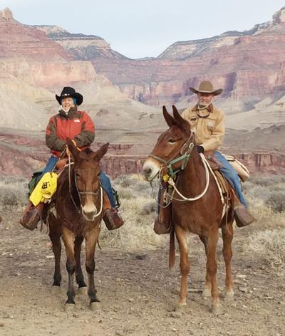 Mary Shofner at the Grand Canyon
