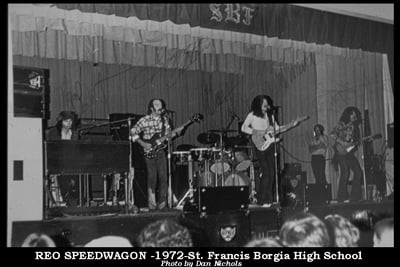 REO Speedwagon in 1972 at SFB High School