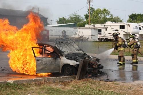 Car Fire on Washington Ave, Union.