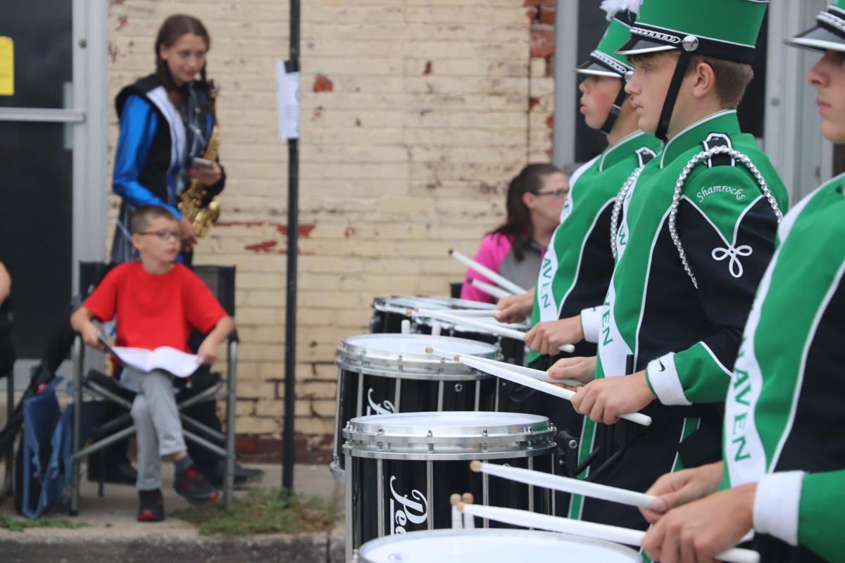 New Haven drumline plays