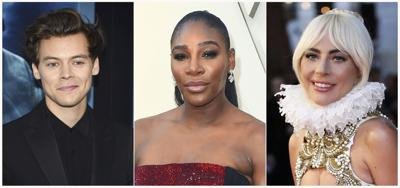 This Combination Photo Shows From Left Actor Singer Harry Styles Tennis Star Serena Williams And Actress Lady Gaga Who Will Join Anna Wintour As