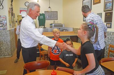 Tiger on the trail: Tuberville visits Athens on campaign stop