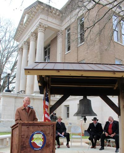 Courthouse bell, Rosenau plaque, benches dedication 2019