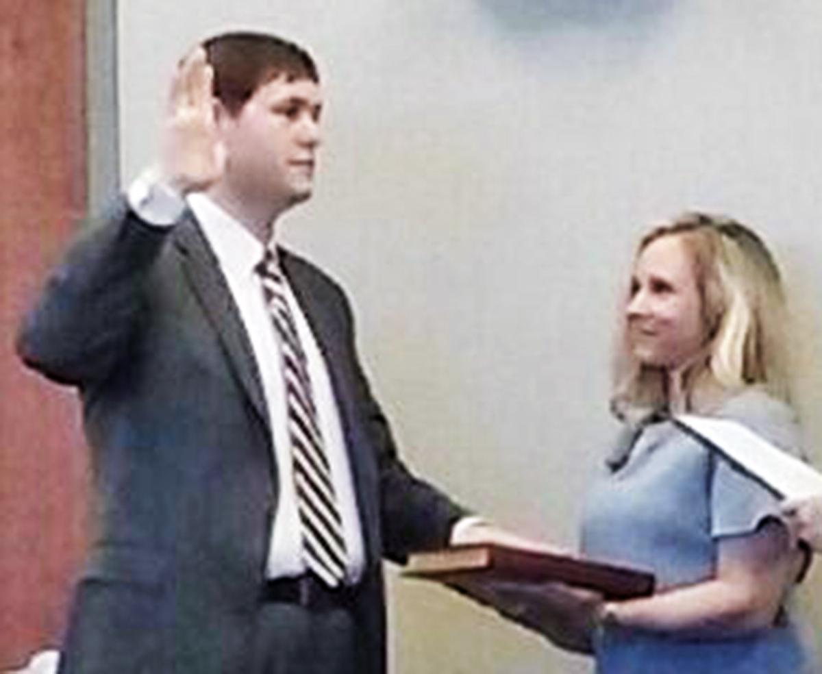 Patterson takes oath