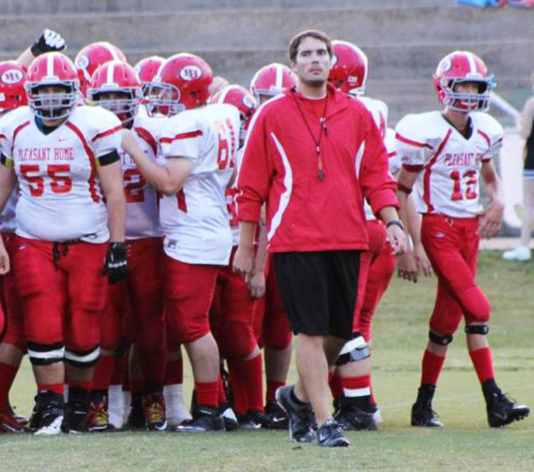 Pleasant Home football coach Cody McCain officially