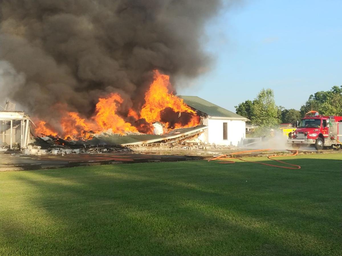 First responders on scene of Elkmont church fire