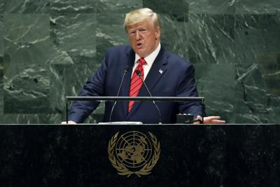 Trump attacks globalism and urges action on Iran at UN