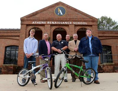 Renaissance recyclers: Athens students make gifts of forgotten bikes