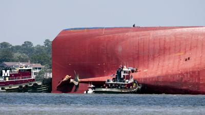 APTOPIX Cargo Ship Georgia