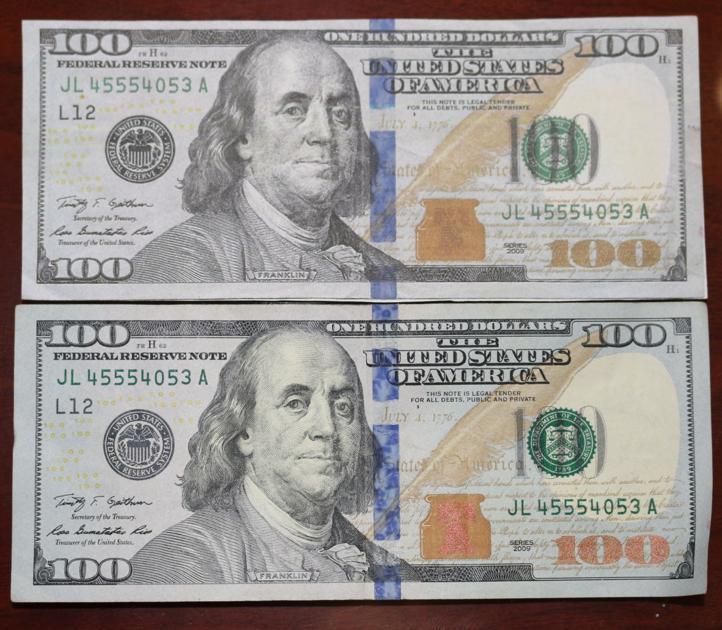 How to recognize fake vs. real bills   Local News   enewscourier.com
