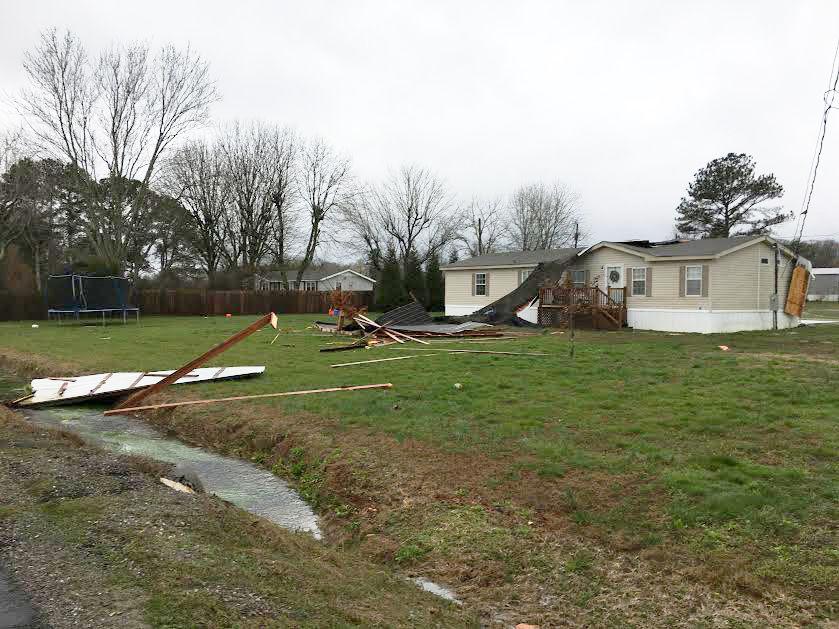 Trailer damage Lydia Corey Road