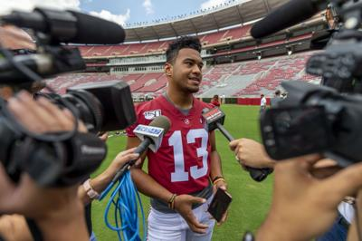 Veteran quarterbacks abound in SEC, led by Tagovailoa, Fromm