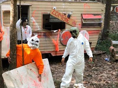 Zombie paintball