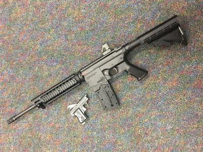 Felon charged with altering, possessing AR-15, pistol