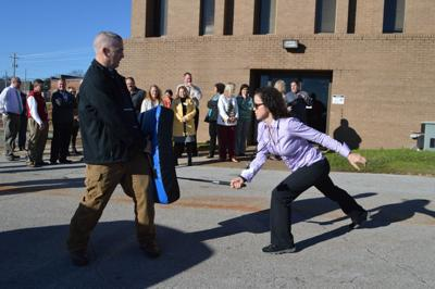 School officials participate in safety training