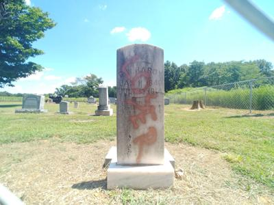 Confederate soldier's headstone vandalized