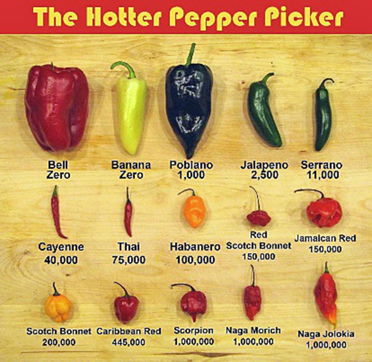 Pepper Heat Chart