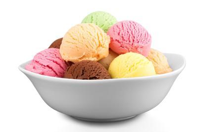 Bowl of ice cream