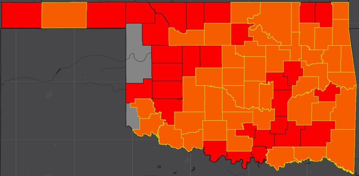 COVID-19 Oklahoma map for 6.5.20