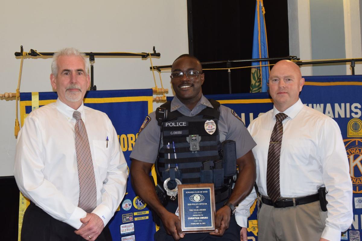 Enid Kiwanis Club honors Officer of the Year