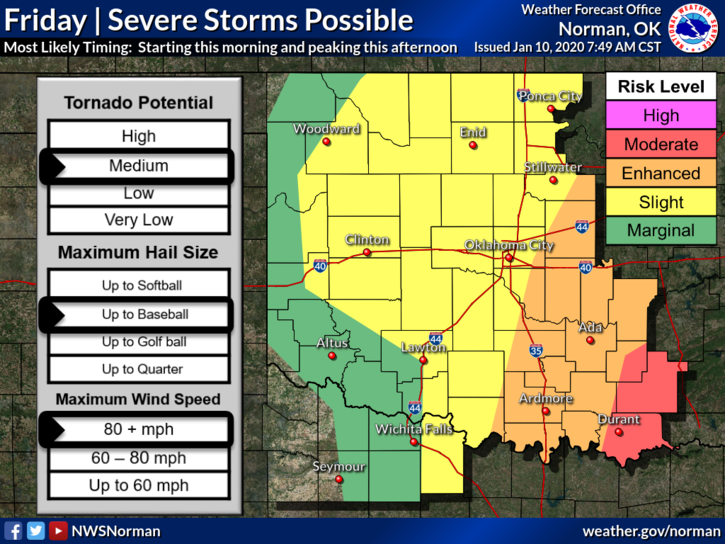 Severe weather possible
