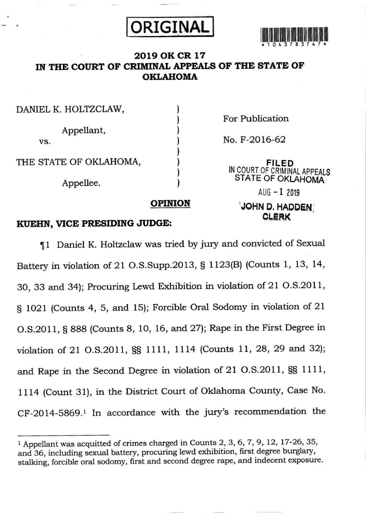 CCC Decision Daniel Holtzclaw
