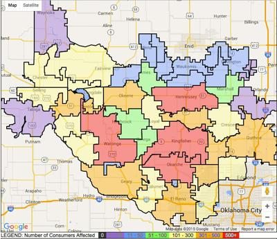 Oge Power Outage Map Oklahoma City.Electric Companies Work To Bring Power To Thousands Of Oklahomans
