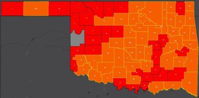 COVID-19 Oklahoma map for 7.13.20