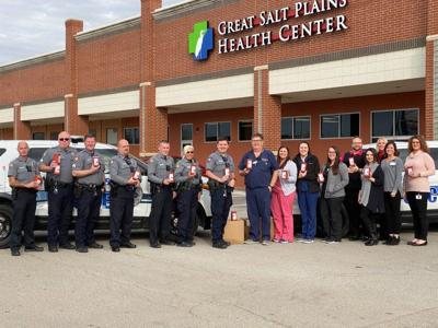 Great Salt Plains Health donates needle disposal containers to EPD