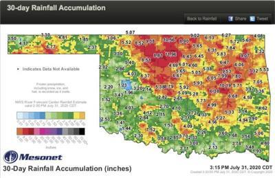 Near-record rain: July 2nd-wettest since 1921