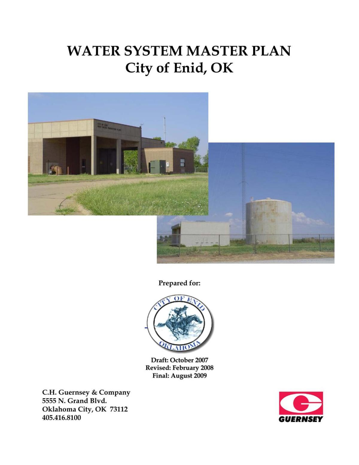 2009 City of Enid Water System Master Plan