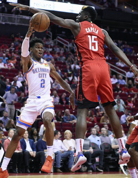 Harden, Westbrook lead Rockets past Thunder, 116-112