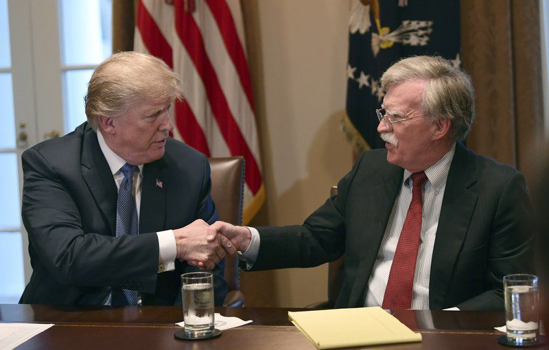 Trump says he's considering 5 candidates to replace Bolton