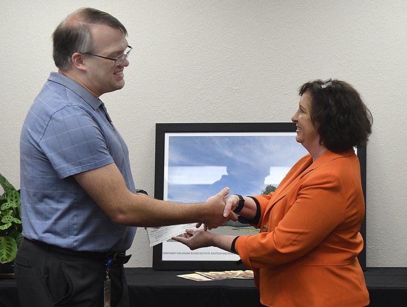 OBI receives $50K donation to kick-start Enid Donor Center upgrades