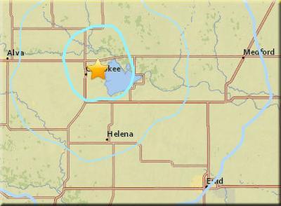 Earthquake near Cherokee