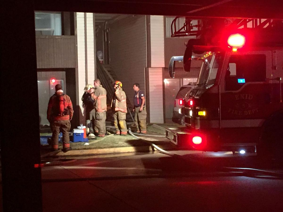 enid firefighters battle apartment complex blaze | local news