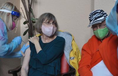 Golden Oaks residents receive vaccines