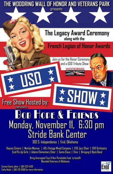 USO Tribute, Legacy Awards set to honor veterans Monday