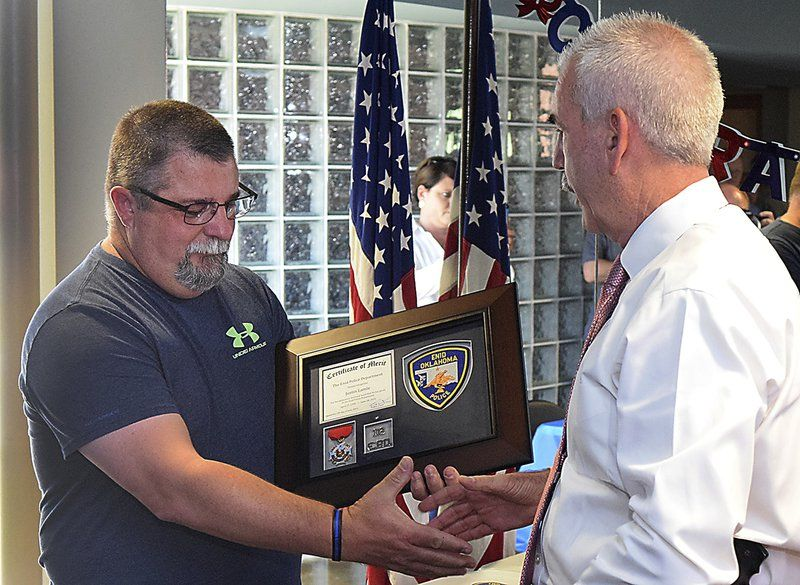 Retired officer honored at Enid Police Department