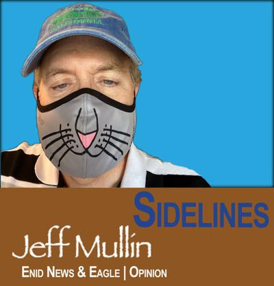 Jeff Mullin with cat mask
