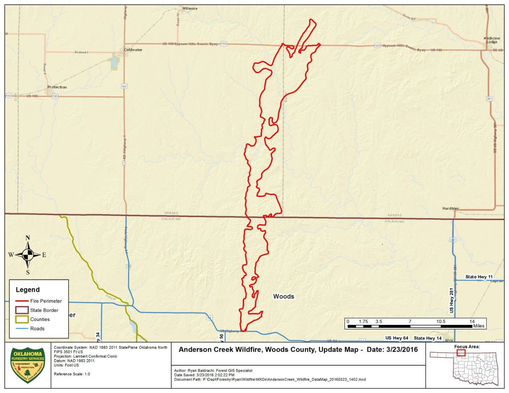Southern Kansas Fire Map | | enidnews.com