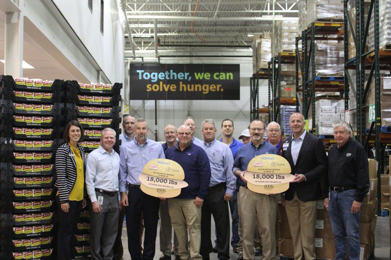 Tyson gives 10,000 pounds of chicken to benefit Regional Food Bank, Loaves and Fishes