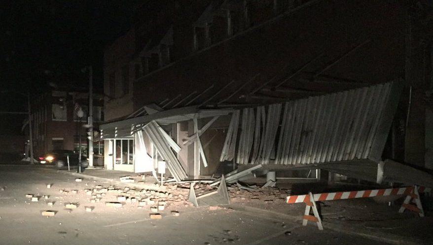 Cushing earthquake damage